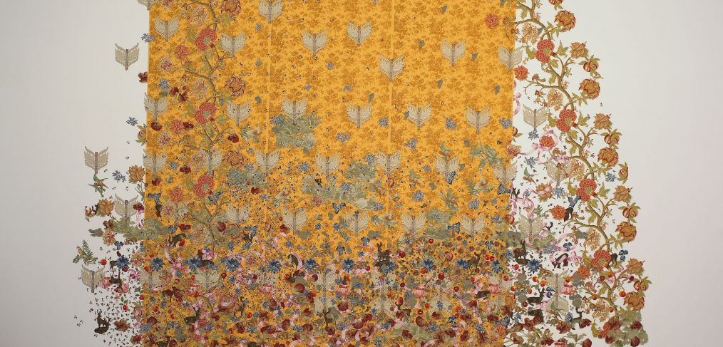 Installation view of The Yellow Wallpaper